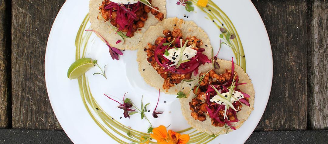 Vegan Roasted Cauliflower and Kale Hippie Bowl