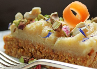 Raw Carrot and Pineapple Cake